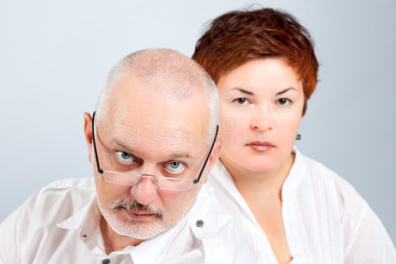 Ongerust gemaakte ouders royalty-vrije stock afbeelding