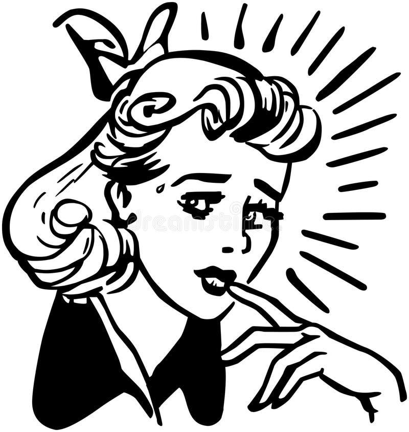 Ongerust gemaakte vrouw vector illustratie