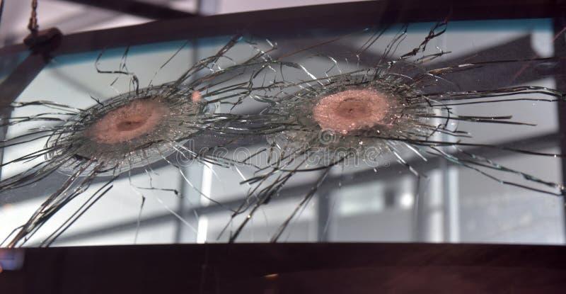 Ongeval beschadigd windscherm royalty-vrije stock afbeeldingen
