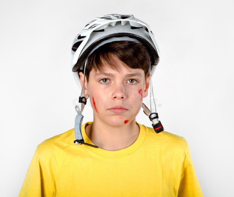 Ongeval met helm royalty-vrije stock foto's