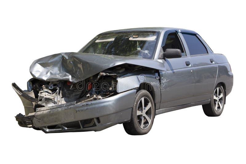 Ongeval op de straat, op witte achtergrond wordt geïsoleerd die stock foto's