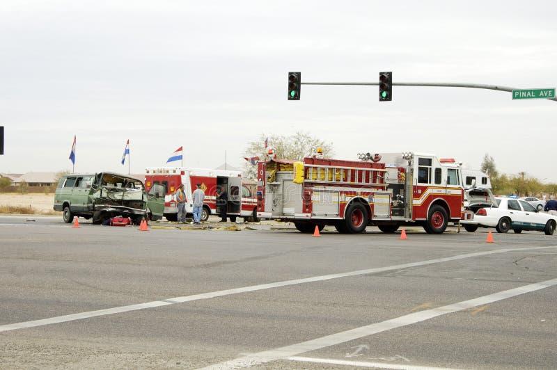 Ongeval van het verkeer 1 royalty-vrije stock afbeeldingen
