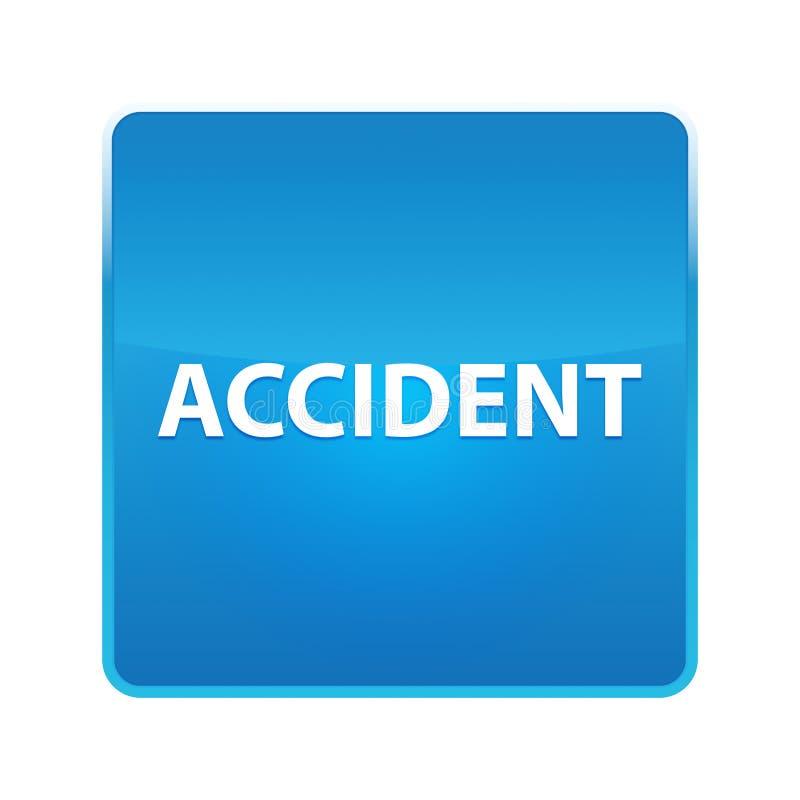 Ongevallen glanzende blauwe vierkante knoop vector illustratie