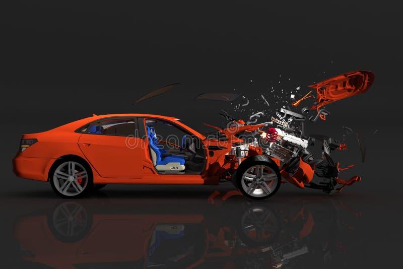 Ongevallenauto vector illustratie