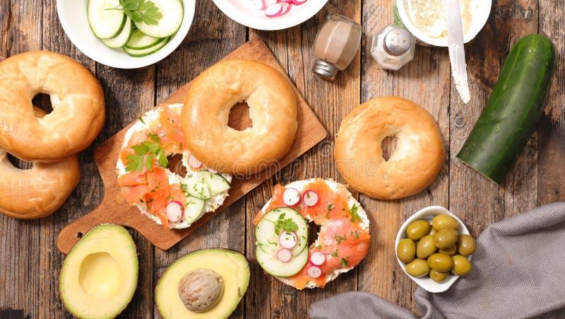 Ongezuurd broodjesandwich royalty-vrije stock afbeeldingen