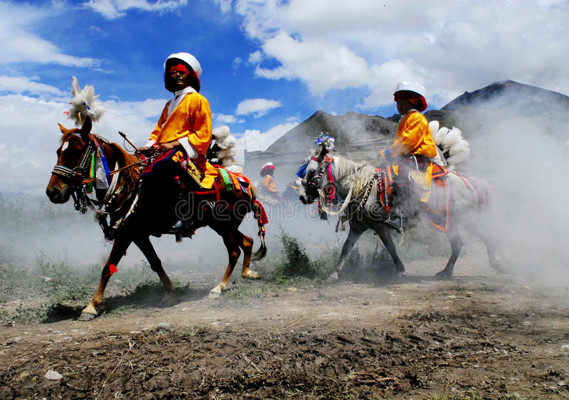 ongkor Θιβέτ φεστιβάλ στοκ εικόνες