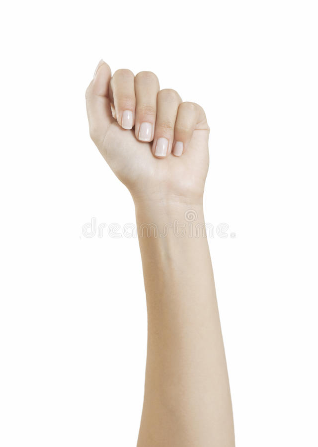 Ongles Manicured photo libre de droits