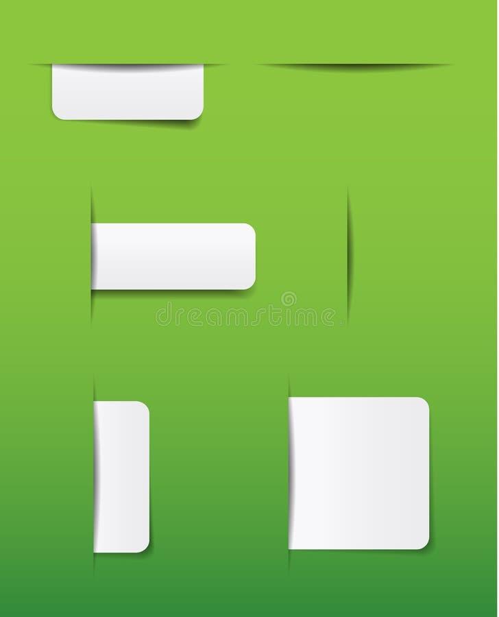 Onglets de site Web illustration de vecteur