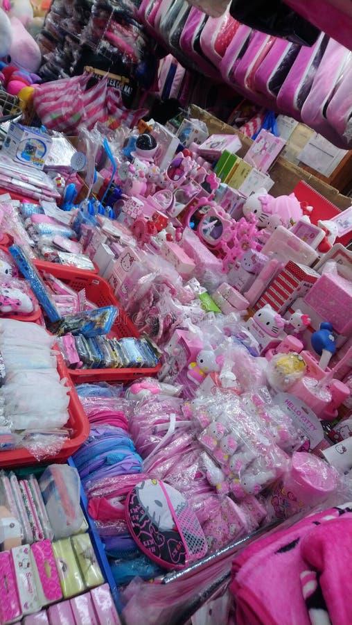 Ongpin shopping China Town Manila Filipinas fotos de stock royalty free