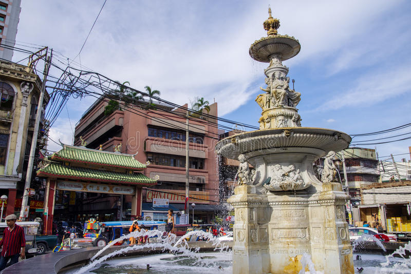 Ongpin-Straße bei Chinatown stockfotografie