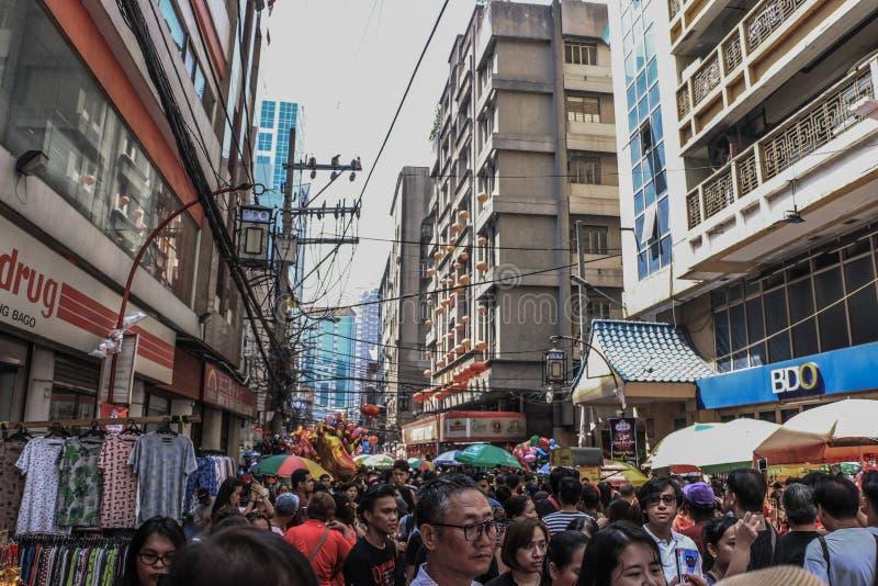 Ongpin ulica w Binondo, Manila zdjęcie royalty free