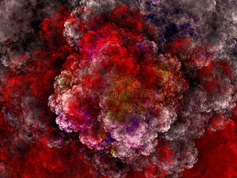 Onheilspellende wolk royalty-vrije illustratie