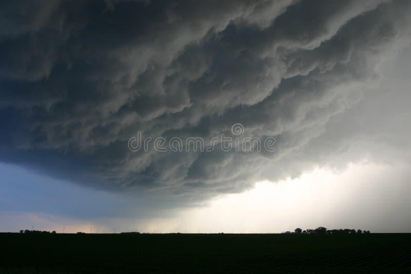 Onheilspellende Wolken royalty-vrije stock fotografie