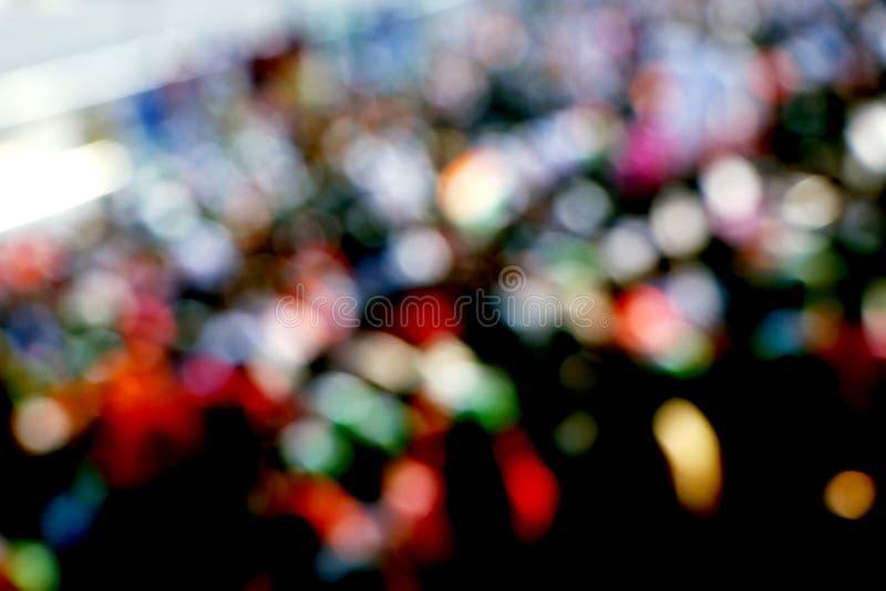 Onherkenbare overvolle bevolking als onduidelijk beeld bij wagahgrens royalty-vrije stock foto's