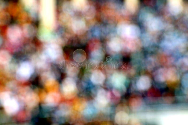 Onherkenbare overvolle bevolking als onduidelijk beeld bij wagahgrens royalty-vrije stock foto