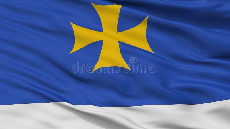 Oni自治市城市旗子,乔治亚,特写镜头视图 皇族释放例证