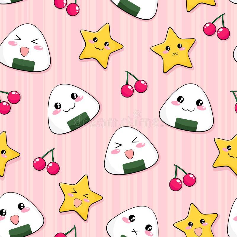 Onigiri Pattern Stock Photo