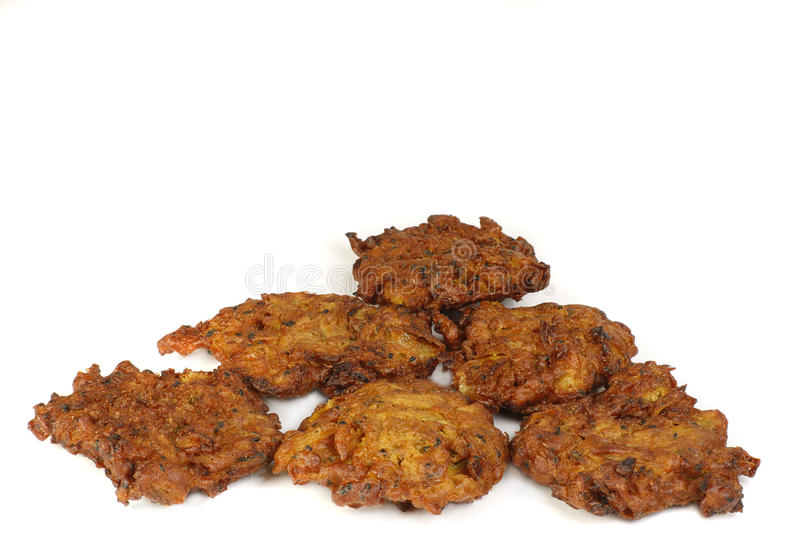 Onion bhajis stock photo