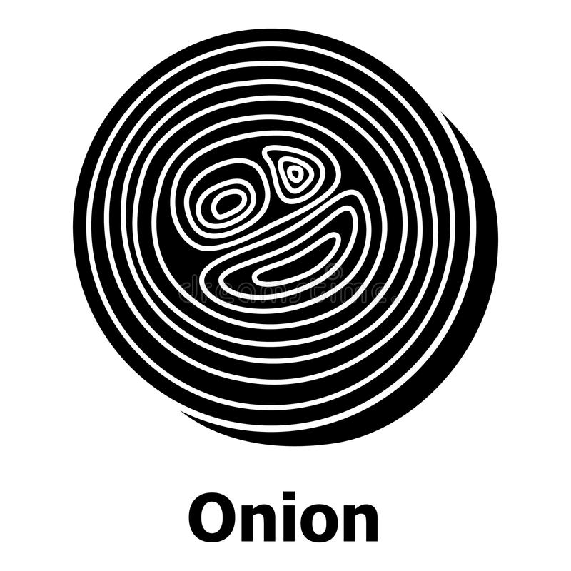 Onion icon, simple black style royalty free illustration