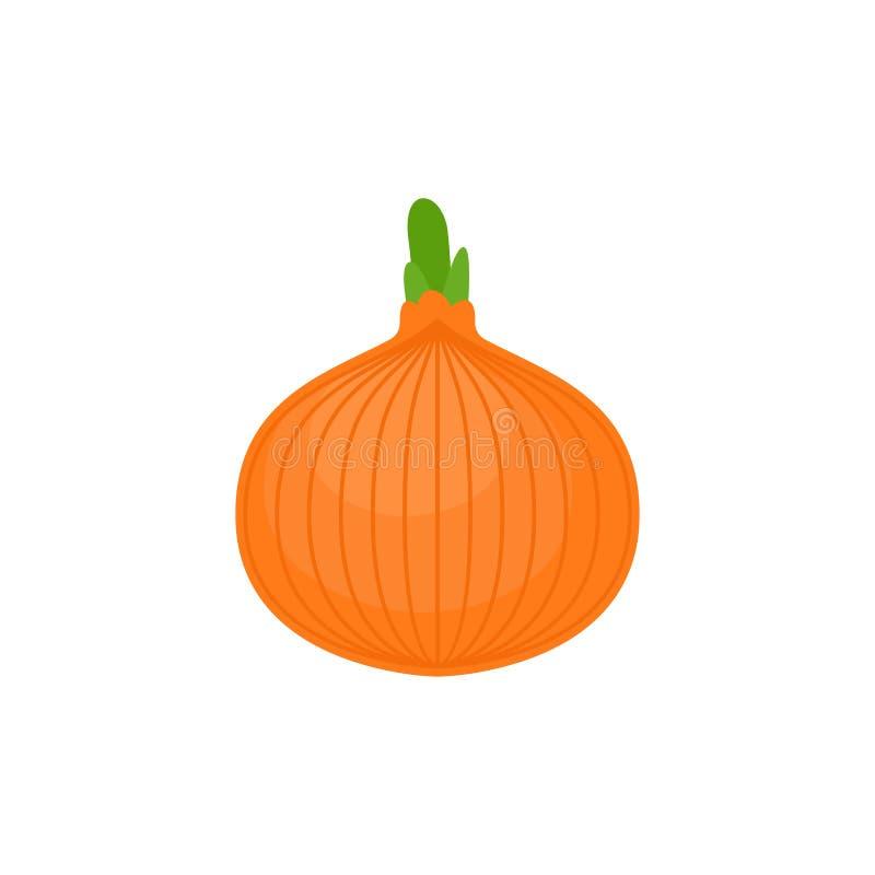 Onion isolated. vegetable Cartoon style vector illustration.  royalty free illustration