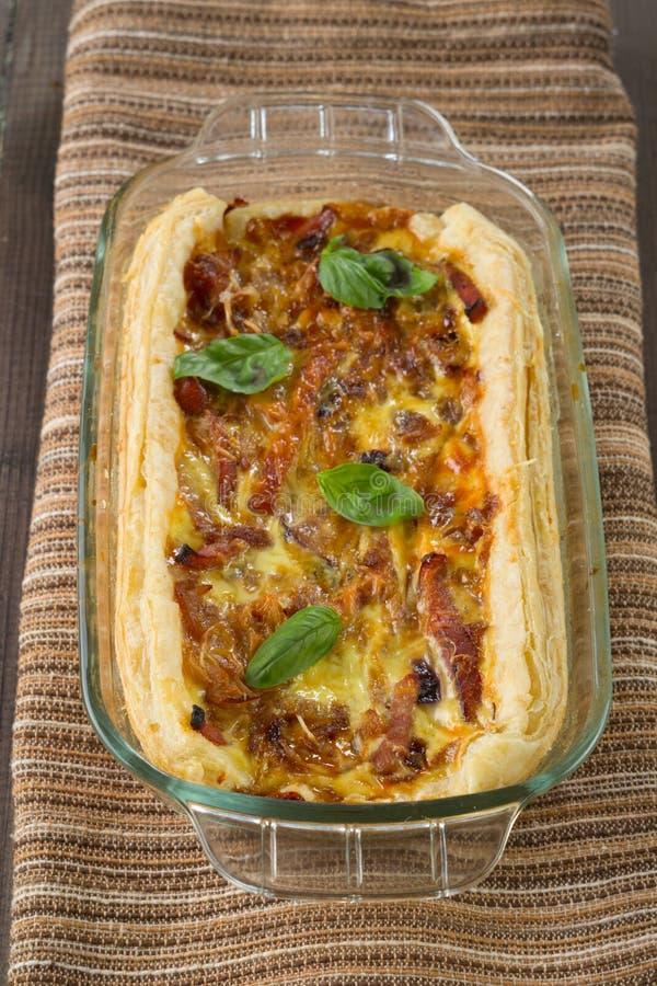 Onion pie stock image