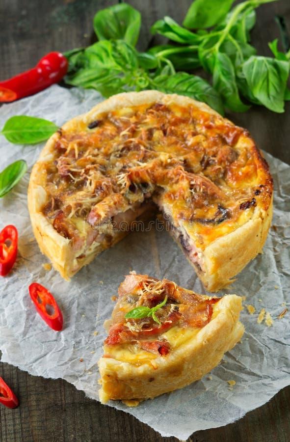 Onion pie stock photography