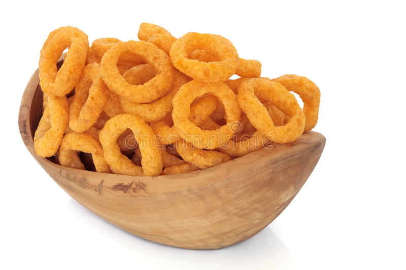 Onion Ring Crisps royalty free stock photos