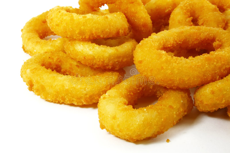 Onion Rings. The Ultimate Fast Food Snack stock photography