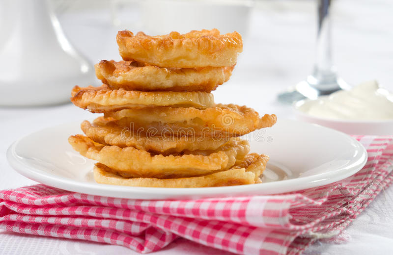 Onion rings stock image