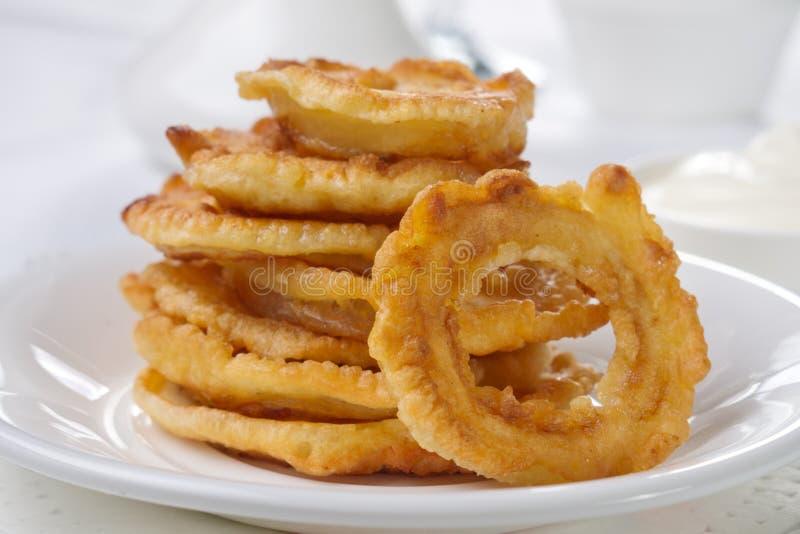 Onion rings royalty free stock photo