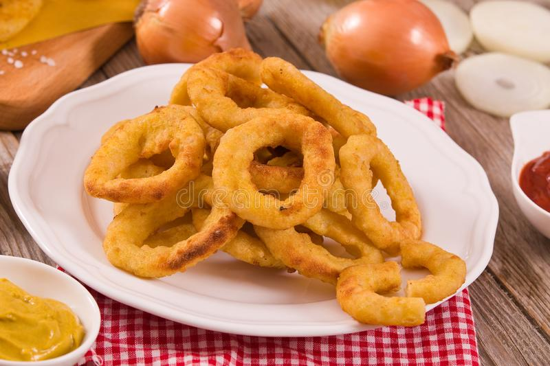 Onion rings. stock images