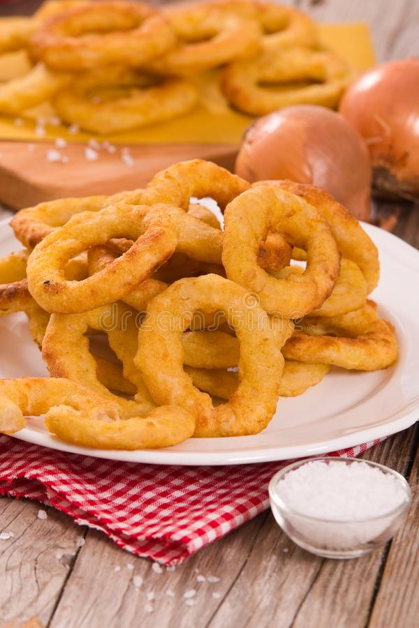 Onion rings. royalty free stock image