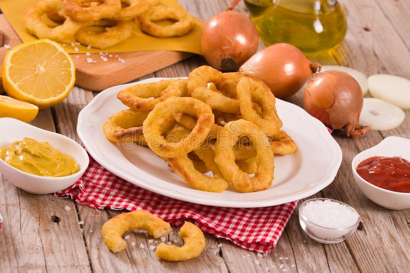 Onion rings. royalty free stock images