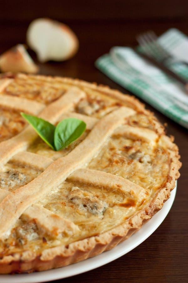 Onion tart stock images
