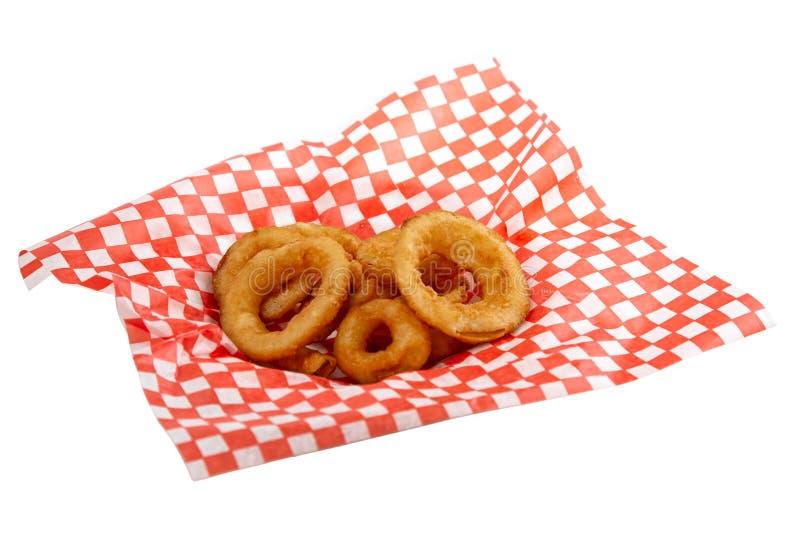 Onionrings stock afbeelding