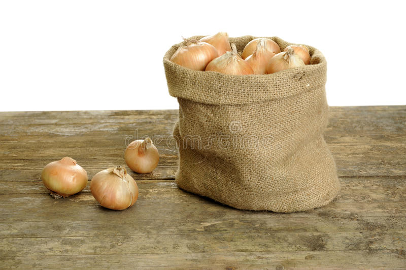 Download Onions In A Jute Bag Royalty Free Stock Image - Image: 25485306
