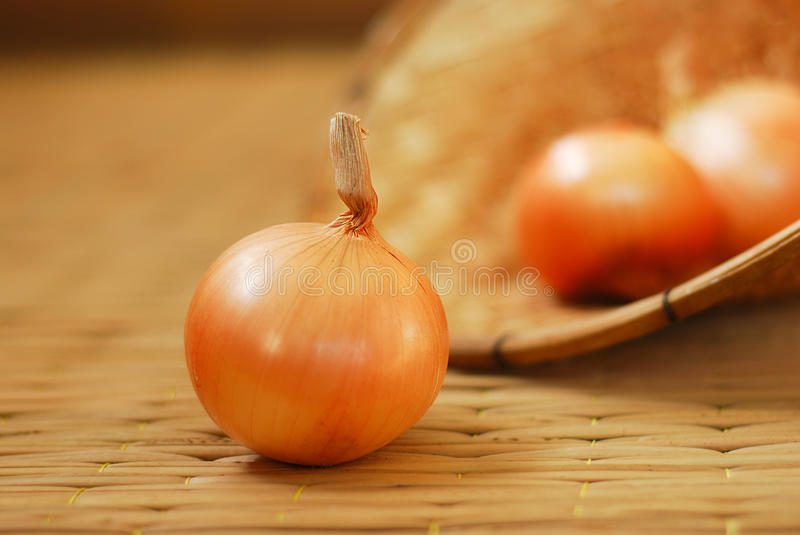 Onions on pallet. Thai onions on the pallet royalty free stock photography