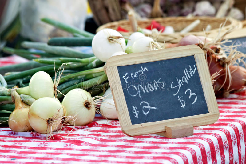 Onions and Shallots royalty free stock image