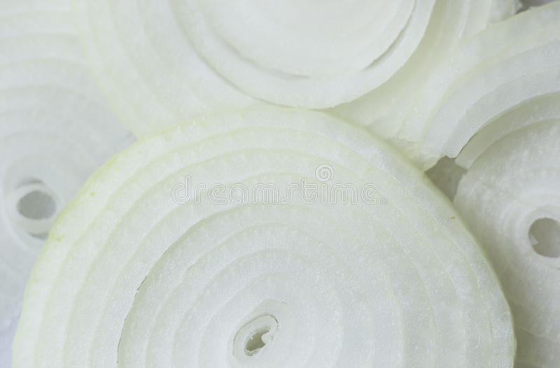 Onions =. Sliced and close up on onions royalty free stock photo