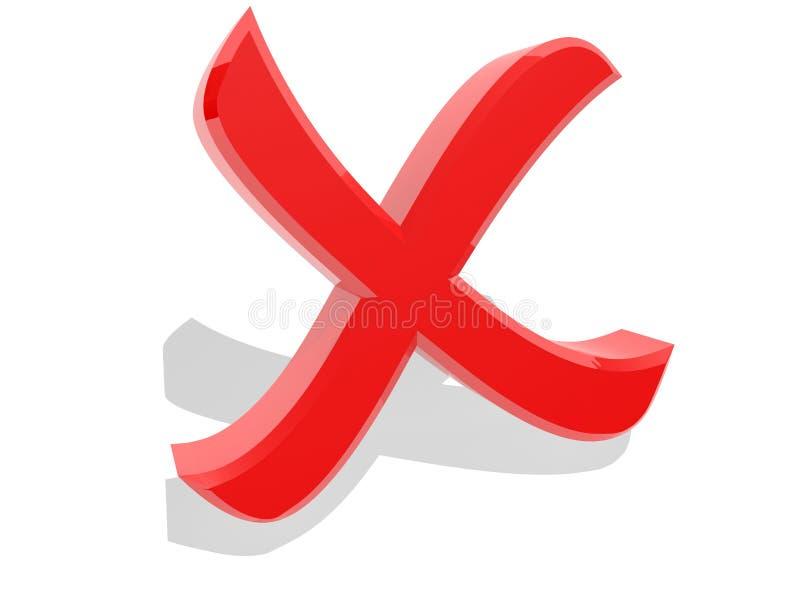 Onjuist kruis vector illustratie
