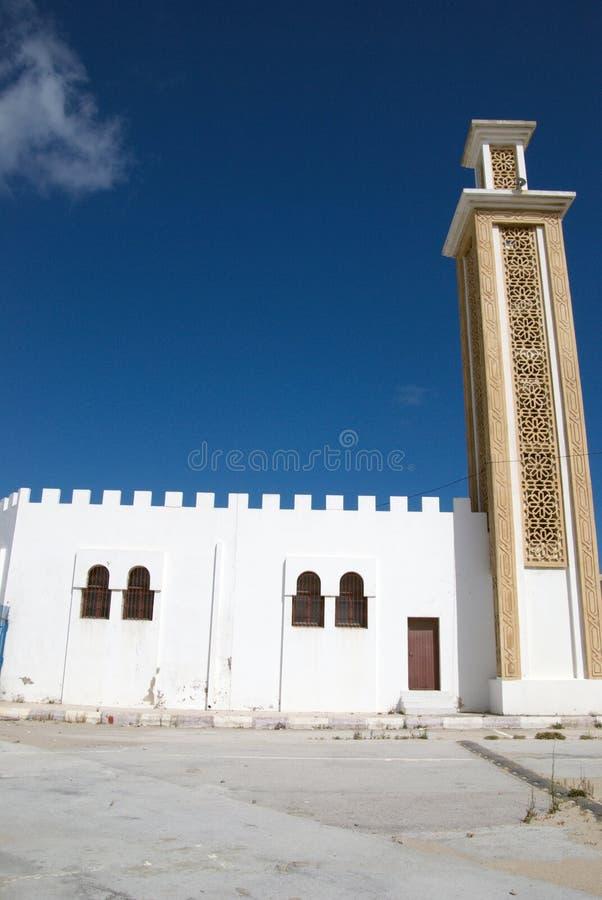 Onlangs gebouwde moskee in Tanger, Marroco royalty-vrije stock afbeeldingen