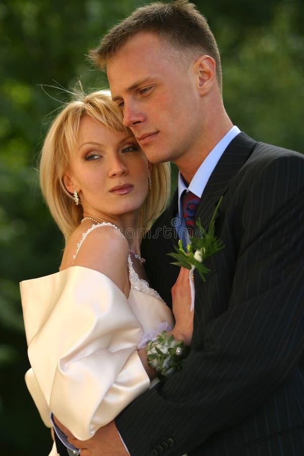 Onlangs gehuwd paar royalty-vrije stock foto