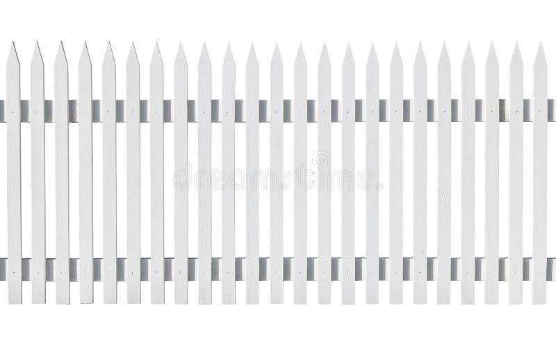 Witte geplukte omheining die op wit wordt geïsoleerdc stock foto