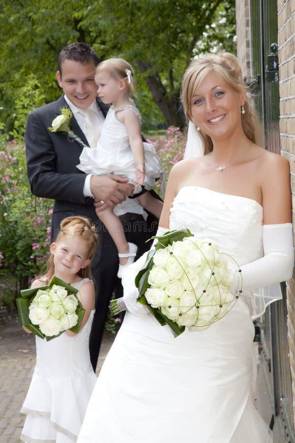 Onlangs weds royalty-vrije stock foto