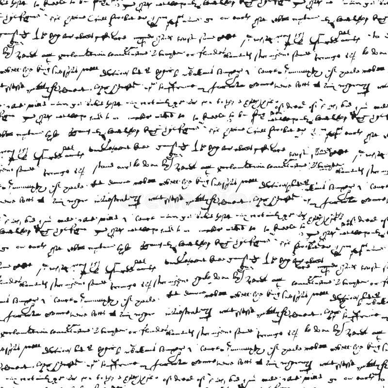 Onleesbare geneigde met de hand geschreven tekst vector illustratie