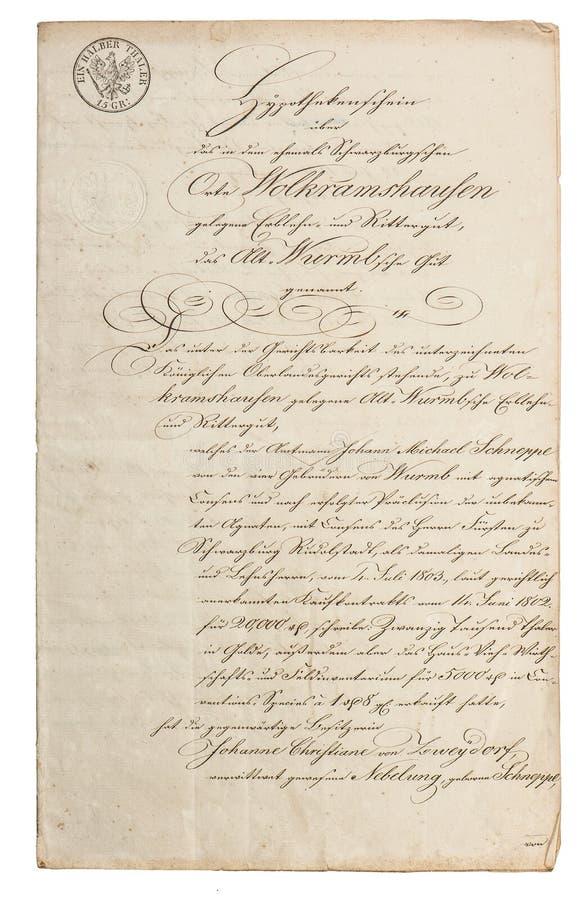Onleesbare kalligrafische handschrift uitstekende document achtergrond royalty-vrije stock afbeeldingen