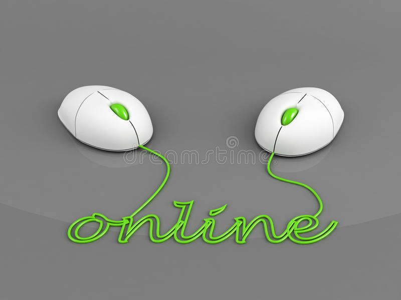 Online aansluting concept vector illustratie