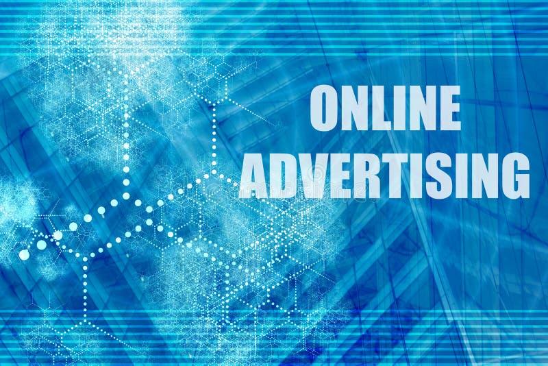 Online Adverterend royalty-vrije illustratie