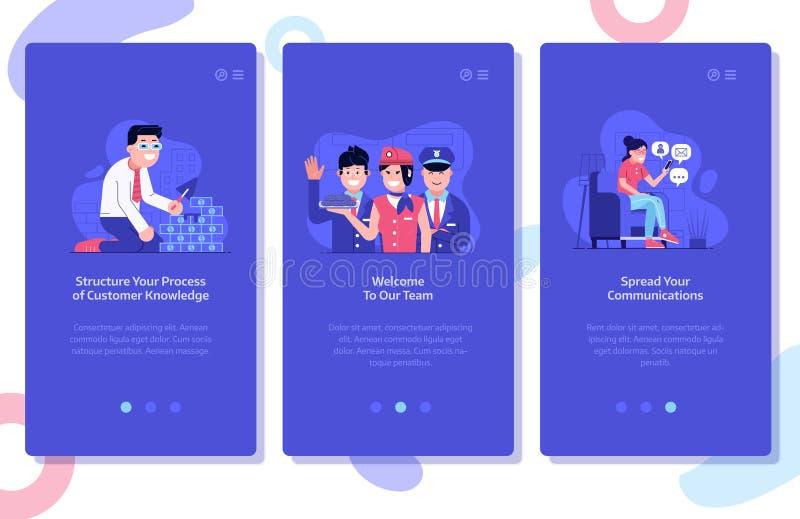 Online Adverterend en Marketing UI Illustraties royalty-vrije illustratie