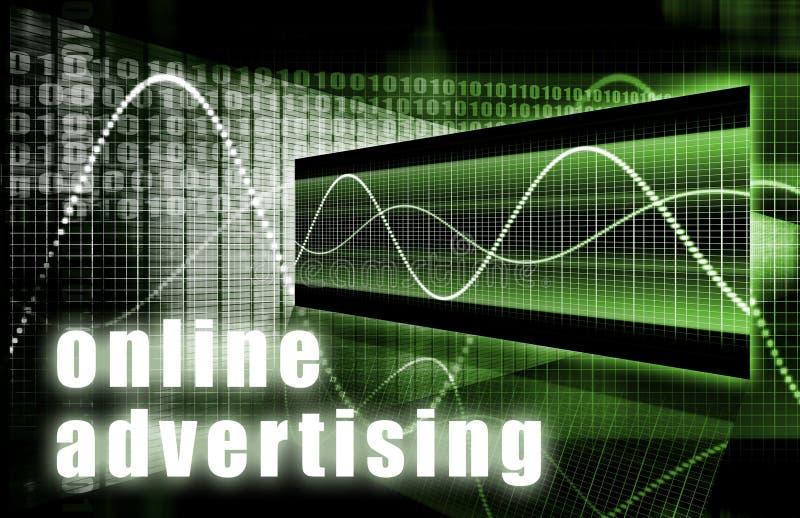 Online Advertising royalty free illustration